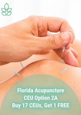 Florida Acupuncture CEU Option 2A - Acupuncture Continuing Education