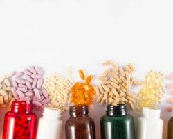 Close-up shot of medicine pills and liquid capsules